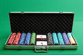 Suitcase for poker — Photo