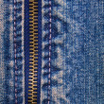 Metal zipper with denim — Stock Photo #45667001