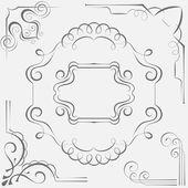 Set vector frames for design — Stock Vector