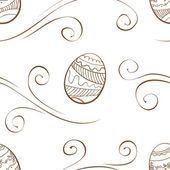 Vector. Seamless easter background with eggs — Stock Vector