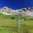 Dolomites with chairlift — Stock Photo