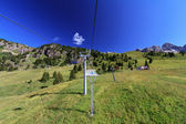 Chairlift in Dolomites — Stock Photo