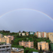 Rainbow over Genova - Stock Photo