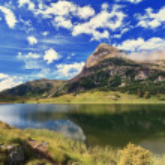 Colbricon lake - HDR — Stock Photo