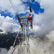 Stock Photo: Cableway in ItaliDolomites