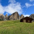 Cirspitzen Dolomites - Gardena pass — Stock Photo #18650715