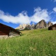 Stock Photo: Dolomiti - landscape from Gardena pass
