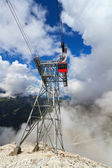 Cableway in Italian Dolomites — Stock Photo