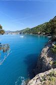 Camogli and Golfo Paradiso, Liguria, Italy — Stock Photo
