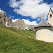 Small chapel in Dolomites — Stock Photo