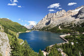 Dolomites - Fedaia lake and pass — Stock Photo