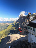 Dolomiti - aerial view from Rosetta mount — Stock Photo