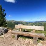 Bench in Dolomites — Stock Photo