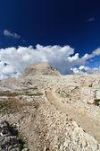 Dolomites plateau and Rosetta peak — Stock Photo