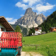 Sassongher mount from Corvara — Stockfoto