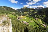 Cordevole valley with Laste — Stock Photo