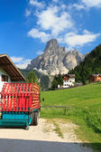 Sassongher mount from Corvara — Stock Photo