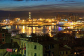 The ancient port in Genova, Italy — Stock Photo