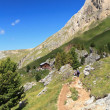 Footpath in Val di Fassa — Stock Photo