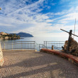 Liguria - promenade in Sori — Stock Photo