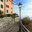 Liguria - promenade in Sori - Stock Photo
