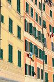 Facades in Camogli — Stock Photo
