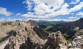 Badia Valley from Cir mount — Stock Photo