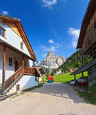 Urban view in Corvara — Stock Photo