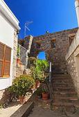 Carloforte içinde antik duvarlar — Stok fotoğraf