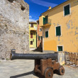 Camogli - square with cannon — Stock Photo