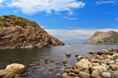 Calafico bay - San Pietro isle — Stock Photo