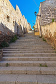 Stairway and ancient walls in Carloforte — Stock Photo