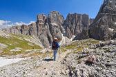 Dolomiti - hiking in Sella mount — Stock Photo