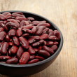 Close up of a bowl of red beans — Stock Photo
