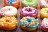 Fresh baked donuts — Stock Photo