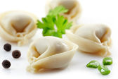 Dumplings russian pelmeni — Stock Photo