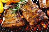 Grilled pork ribs — Foto Stock