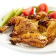 Grilled quail - Stock Photo