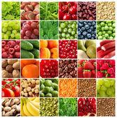 Ovoce a zelenina pozadí — Stock fotografie