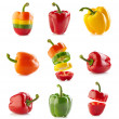 Various paprika — Stock Photo
