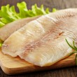 Fresh raw fish fillet — Stock Photo