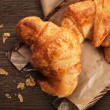 Freshly baked croissant — Stock Photo