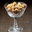 Stock Photo: Closeup view of hazelnuts