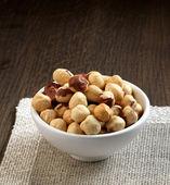 Closeup view of hazelnuts — Stock Photo