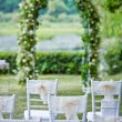 Decorative wedding chairs — Stock Photo #30832177