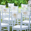 Decorative wedding chairs — Stock Photo