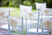 Decorative wedding chairs — Stock Photo