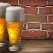 Stock Photo: Two beer glasses