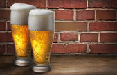 Two beer glasses — Stock Photo