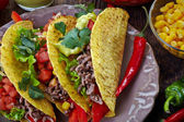 Mexican food Tacos — Stock Photo